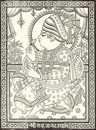 Swaminarayan - Traditional iconographical portrait of Swaminarayan