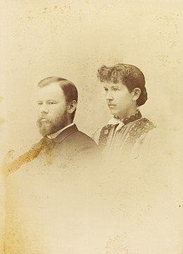 Portrait photograph of Carl H. Eigenmann and Rosa Smith Eigenmann, 1889.jpg