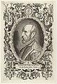 Portret van Abraham Ortelius in een ornamentele rolwerkcartouche. NL-HlmNHA 1477 53008319.JPG