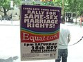 Poster for Same Sex Marriage Rally, State Library of Victoria, Swanston and La Trobe Sts, Melbourne City, Victoria, Australia 091128 (4140332448).jpg