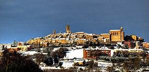 Potenza Picena - Image: Potenza Picena paese neve