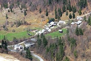 Potok v Črni Place in Upper Carniola, Slovenia