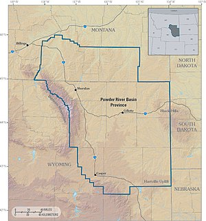 Powder River Basin Province of northeastern Wy...