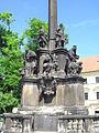 Praha, Hradčanské náměstí, sloup se sousoším-mariánský morový sloup (Aw58)SDC11850.JPG