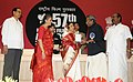 Pratibha Devisingh Patil presenting the Swarna Kamal Award to Shri Shaji N. Karun for the Best Feature Film (Malyalam Kutty Srank) at the 57th National Film Awards function, in New Delhi on October 22, 2010.jpg