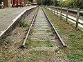 Preserved track, Hadlow Road railway station 1.JPG