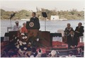 President Bush addresses the ceremony for the Fiftieth Commemorative Anniversary of Pearl Harbor at the Arizona... - NARA - 186443.tif