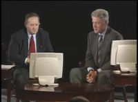 File:President Clinton Participating in an Online Townhall Meeting (1999).webm
