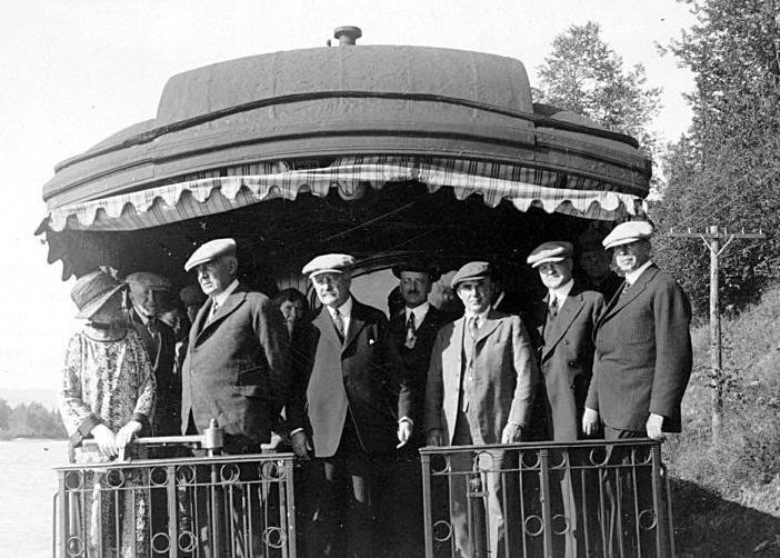 President Harding in Alaska on Presidential Train