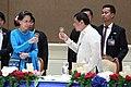 President Rodrigo Roa Duterte and Myanmar Minister for Foreign Affairs Aung San Suu Kyi toast.jpg