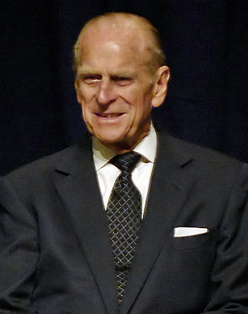 Prince Philip, The Duke of Edinburgh, during a...