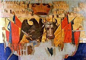 History of the flags of Romania - Princely flag of Alexander John Cuza