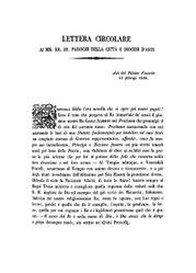 Filippo Artico: Lettera circolare ai mm. rr. ss. parochi della città e diocesi d'Asti