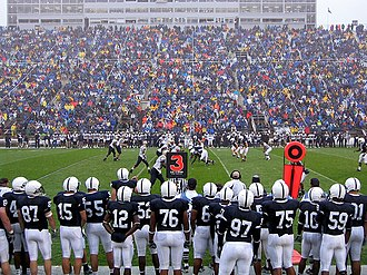 2006 Penn State Nittany Lions football team - The Nittany Lions and Zips played in the remnants of Hurricane Ernesto in the season opener.