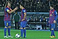 Puyol Xavi Messi FC Barcelona Team of the Year 2011.jpg