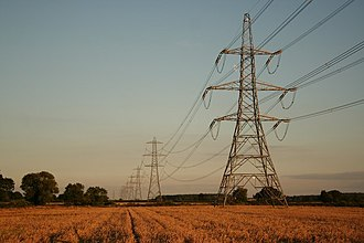 Association of Electricity Producers - Transmission towers near Harby in Nottinghamshire
