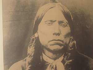 Quanah Parker - Quanah Parker photograph at Pioneer West Museum in Shamrock, Texas