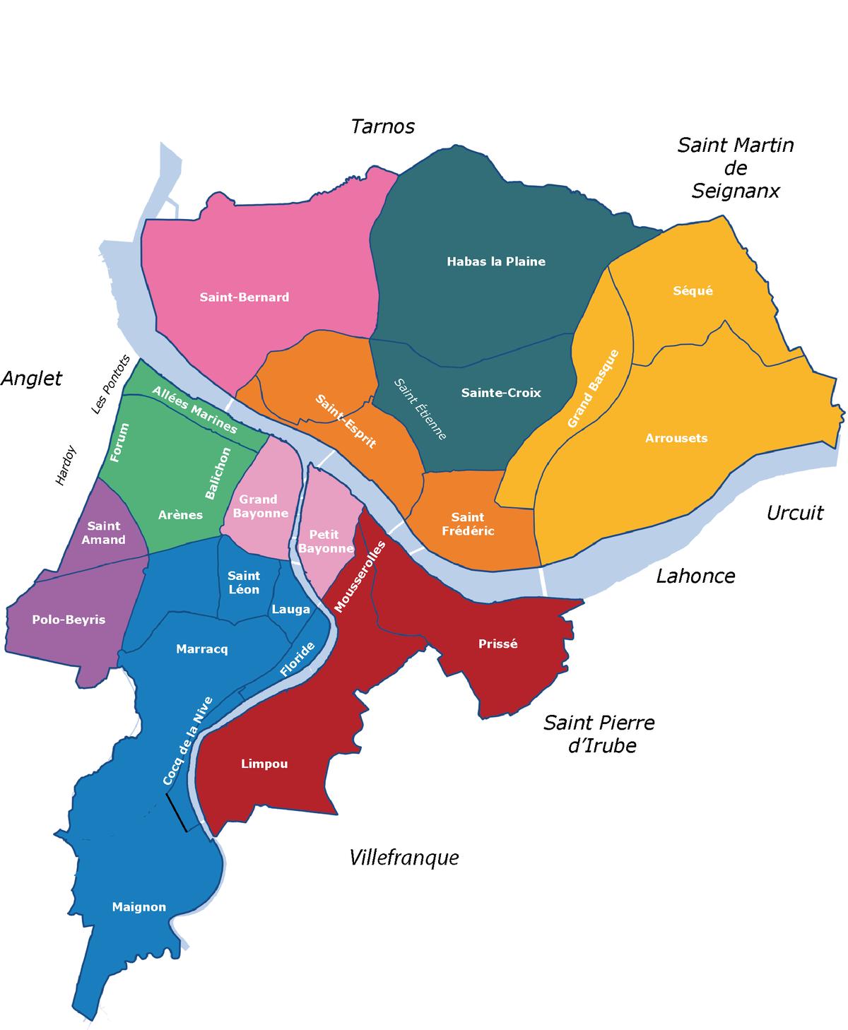 Allée De Niert Bayonne file:quartiers de bayonne - wikimedia commons