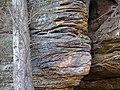 Quartzose sandstone (Black Hand Sandstone, Lower Mississippian; Black Hand Gorge, Ohio, USA) 1 (30751281370).jpg