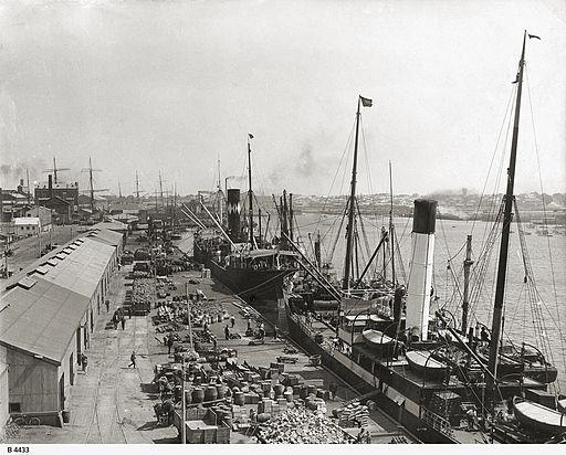 Queens Wharf, Port Adelaide, before 1927