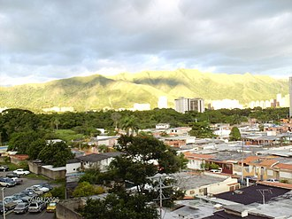 Naguanagua Municipality - View El Trigal Mountain, Neighborhoods: Las Quintas I, El Rincón, Tazajal, Palma Real and Ciudad Jardín Mañongo, from the Southeast of the city