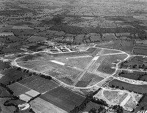 Wellesbourne Mountford Airfield - RAF Wellesbourne Mountford seen from north-north-west circa 1941-1942
