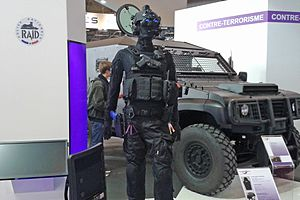 RAID (French Police unit) - RAID equipment and armored vehicle