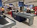 REMA 1000 Supermarket interior grocery store Tønsberg, Norway 2017-11-03 cashier checkout a.jpg