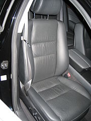 A Typical Leather Upholstered Car Seat