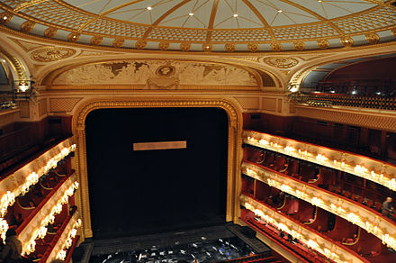 Facing the stage from the Amphitheatre ROH auditorium 001.jpg