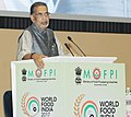 """Radha Mohan Singh addressing the Conference on """"Fruits & Vegetables, Dairy, Poultry & Fisheries – Leveraging the diverse India Opportunity"""", on the occasion of the World Food India 2017, in New Delhi.jpg"""