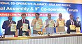 Radha Mohan Singh and the Union Minister for Railways, Shri Suresh Prabhakar Prabhu releasing the publication at the conference related to the 12th International Cooperative Alliance – Asia.jpg