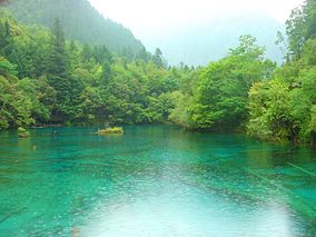 Rain at Tiger lake - Jiuzhaigou valley.jpg
