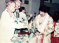 Rajib Gandhi Sadbhawna Award 2005- Arabinda Muduli - Janaki Ballabh Pattanaik 02.jpg