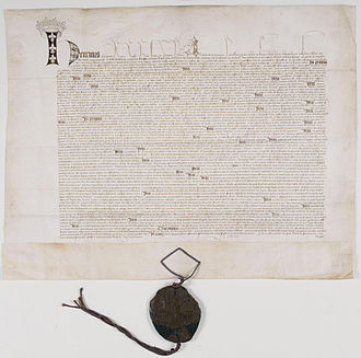 Treaty of Troyes - Ratification of the Treaty de Troyes, 21 May 1420 (Archives Nationales)
