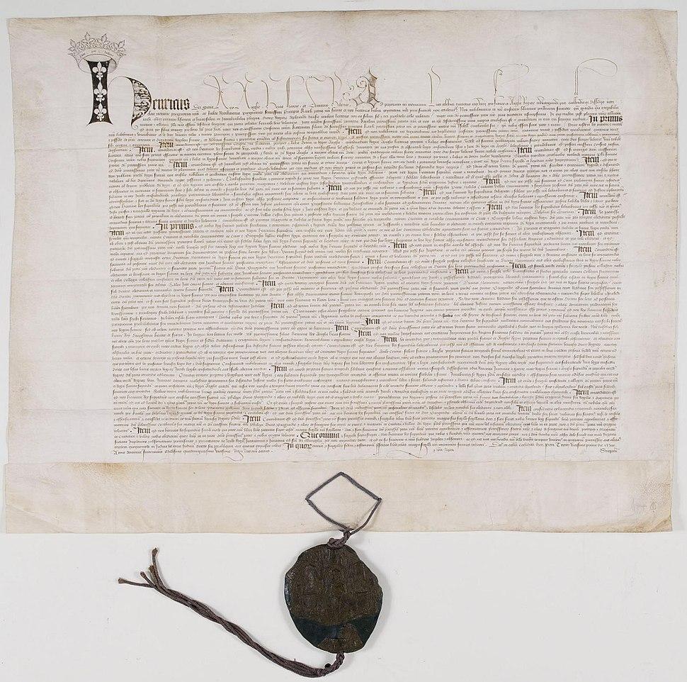 Ratification du Traité de Troyes 1 - Archives Nationales - AE-III-254