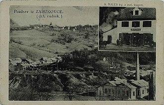 Zabukovica - 1931 postcard of Zabukovica