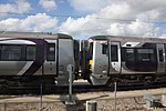 Reading TCD - GWR 387140 and 387130 in Heathrow livery.JPG