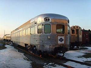 Crusader (train) - The Crusader observation car at the Railroad Museum of Pennsylvania