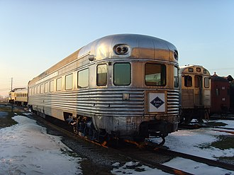 Crusader (train) - The Crusader observation car at the Railroad Museum of Pennsylvania