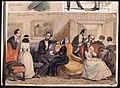 Reception chez Mme Due, 18 Feb 1848 . Akvarell av Fritz von Dardel - Nordiska museet - NMA.0037336.jpg