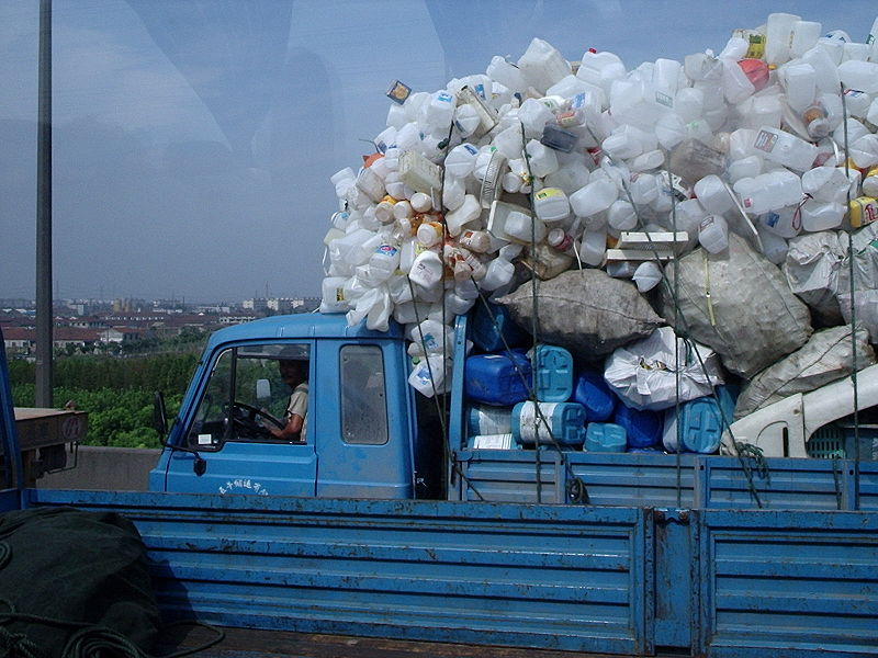 File:Recycling truck, China.JPG