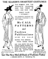 'Redingote polonaise' (left) from a McCall advertisement, 1914