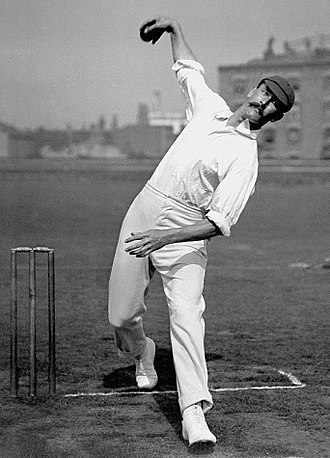 Reggie Schwarz, the pioneer of the googly and the 'googly revolution' in South Africa and one of the world's first great googly bowlers Reggie Schwarz c1905.jpg