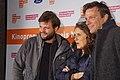Regisseur Peter Thorwarth mit Petra Müller (FMS) und Marcus Machura (Donar Film).jpg
