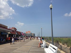 Rehoboth Beach boardwalk looking north toward Rehoboth Avenue.jpg