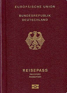 German passport Passport of the Federal Republic of Germany issued to German citizens