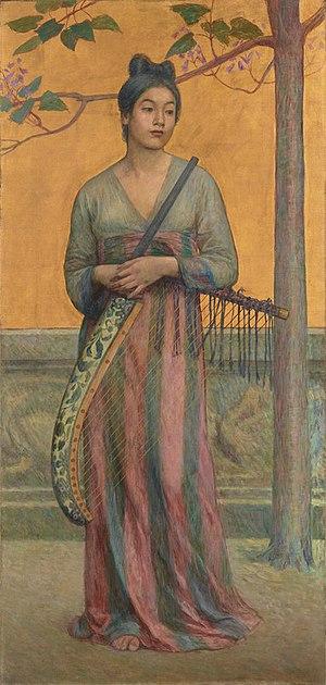 Yōga - Reminiscence of the Tempyo Era (天平の面影), by Fujishima Takeji (1902)