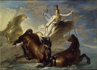 Story of Minerva - Minerva Watering her Horses into the Sea