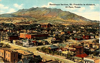 North Franklin Mountain - Residence Section and Mt. Franklin, El Paso, Texas, c. 1912